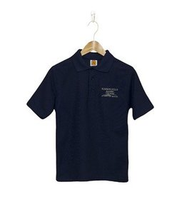 School Apparel A+ Navy Blue Shortsleeve  Pique Shirt #8760