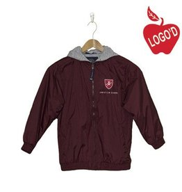 Charles River Wine Hooded Nylon Jacket #8921