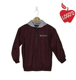 Charles River Wine Hooded Nylon Jacket