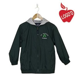 Charles River Green Nylon Hood Jacket #8921