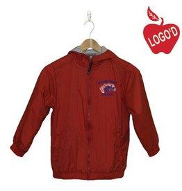 Charles River Red Nylon Hood Jacket Mustang #8921