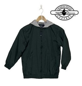 Charles River Green Hooded Nylon Jacket #8921