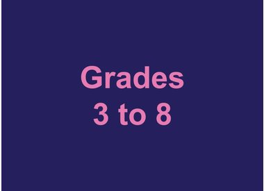 Grades 3 to 8