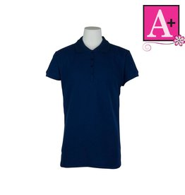 School Apparel A+ Navy Blue Short Sleeve Pique Polo #9715