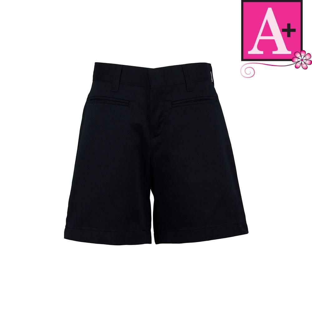 School Apparel A  Navy Blue Plain Front Walk Shorts #7362R - Merry ...