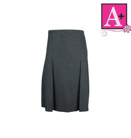 School Apparel A+ Grey Gabardine 4-pleat Skirt #1034PS