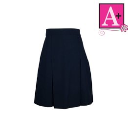School Apparel A+ Navy Gabardine 4-pleat skirt #1034PS