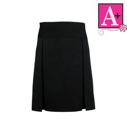 School Apparel A+ Black Twill Skort #1106BTR