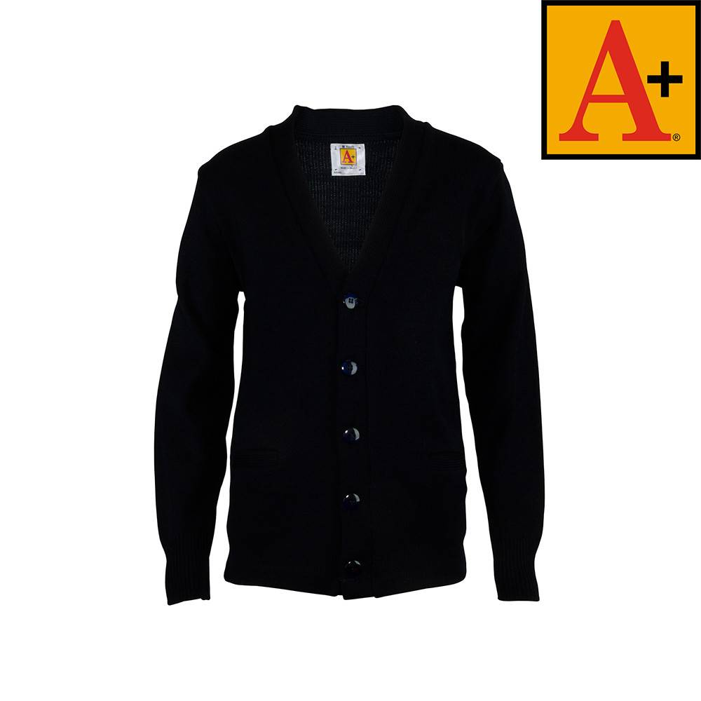 School Apparel A  Navy Blue Cardigan Sweater #6300 - Merry Mart ...