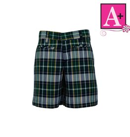 School Apparel A+ Christopher Plaid Walk Shorts #1124PP