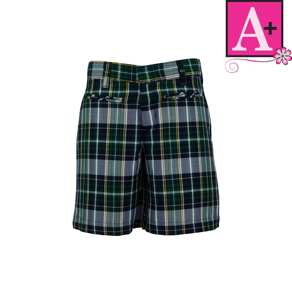 School Arel A Christopher Plaid Walk Shorts 1124pp