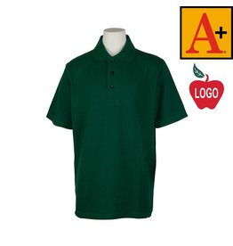 School Apparel A+ Green Short Sleeve Pique Polo #8760