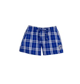 Embroidered S17 Royal Blue/White Flannel Short