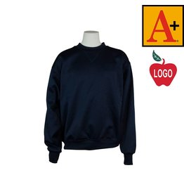 School Apparel A+ Navy Blue Crew-neck Sweatshirt #6130
