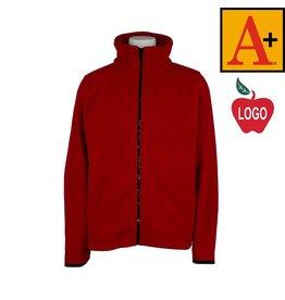 School Apparel A+ Lipstick Red Full Zip Fleece Jacket #6202