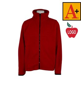 School Apparel A+ Lipstick Red Full Zip Fleece Jacket #6202