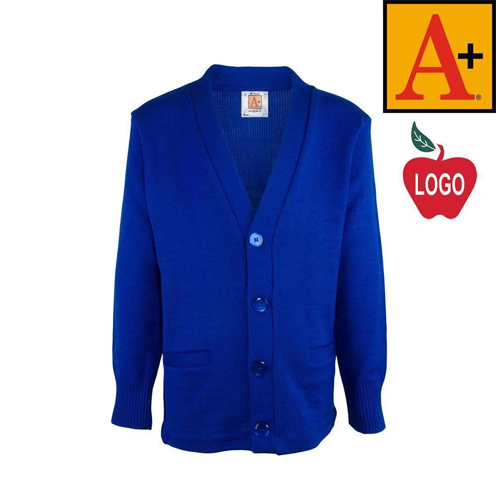School Apparel A  Mayfair Blue Cardigan Sweater #6300 - Merry Mart ...