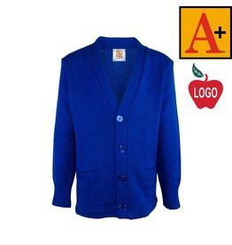 School Apparel A+ Mayfair Blue Cardigan Sweater #6300