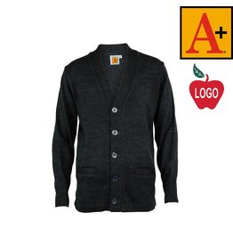 School Apparel A+ Charcoal Grey Cardigan Sweater #6300