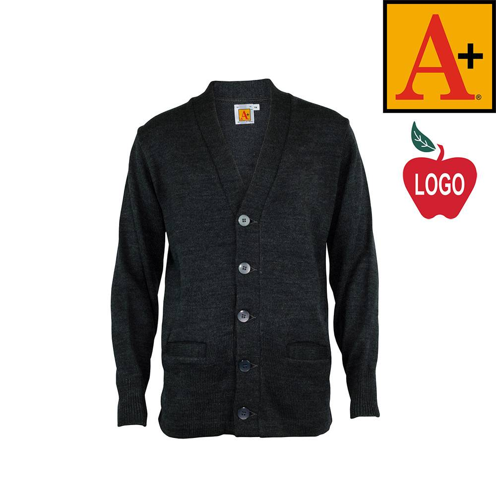School Apparel A  Charcoal Grey Cardigan Sweater #6300 - Merry ...