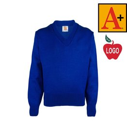 School Apparel A+ Mayfair Blue Pullover Sweater #6500