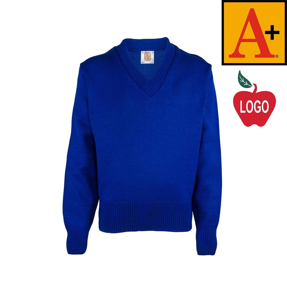School Apparel A  Mayfair Blue Pullover Sweater #6500 - Merry Mart ...