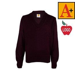 School Apparel A+ Wine Pullover Sweater #6500