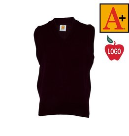 School Apparel A+ Wine Sleeveless Sweater Vest #6600
