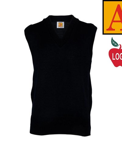 School Apparel A  Navy Blue Sleeveless Sweater Vest #6600 - Merry ...