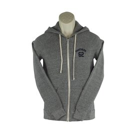 District Threads DD17 Grey Zip Hood Sweatshirt