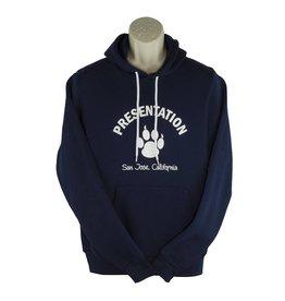 Screenprinted T18 Navy Blue Hood Sweatshirt