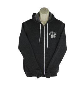 Screenprinted V17 Charcoal Zip Hood Sweatshirt