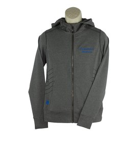 Embroidered i17 Grey Zip Hood Sweatshirt