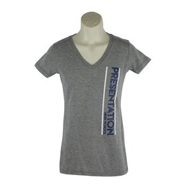 District Threads D18 Grey V-Neck Tee