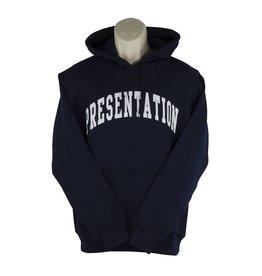 Screenprinted H18 Navy Blue Hooded Pullover Sweatshirt