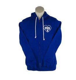 Screenprinted K17 Royal Blue Zip Hood Sweatshirt
