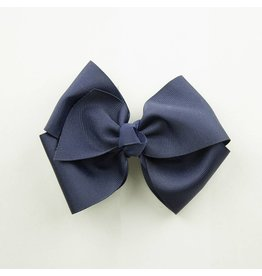 EE Dee Trim Navy Blue Solid Color Bow #FBE160
