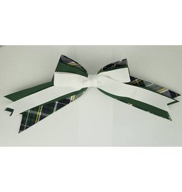 EE Dee Trim Christopher Plaid #1B Triple Layer Bow #FBE189