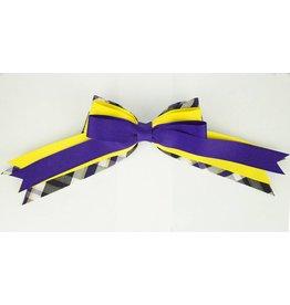 EE Dee Trim Plymouth Plaid #2M Triple Layer Bow #FBE189