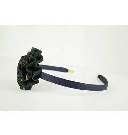 EE Dee Trim Aberdeen Plaid #5L Rosette Headband #FBE13HB