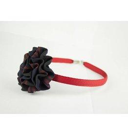 EE Dee Trim Cambridge Plaid #6B Rosette Headband #FBE13HB