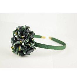 EE Dee Trim Christopher Plaid #1B Rosette Headband #FBE13HB