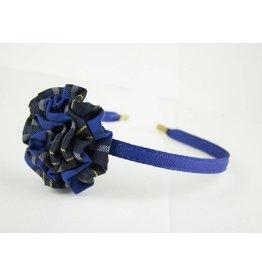 EE Dee Trim Mayfair Plaid #92 Rosette Headband #FBE13HB
