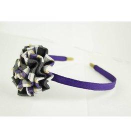 EE Dee Trim Plymouth Plaid #2M Rosette Headband #FBE13HB