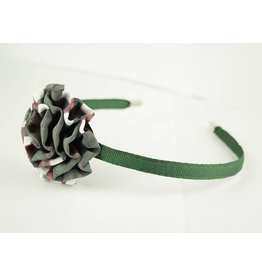 EE Dee Trim Sequoia Plaid Rosette Headband #FBE13HB