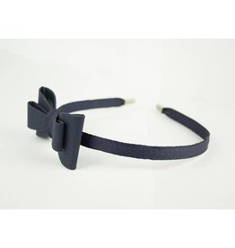 EE Dee Trim Navy Blue Bow Headband #FBE9HB