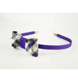 EE Dee Trim Plymouth Plaid #2M Bow Headband #FBE9HB