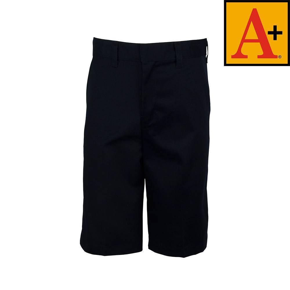 School Apparel A  Navy Blue Plain Front Walk Shorts #7031 - Merry ...