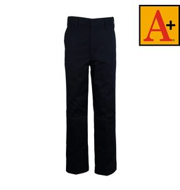 School Apparel A+ Navy Blue Plain Front Pants #7120M