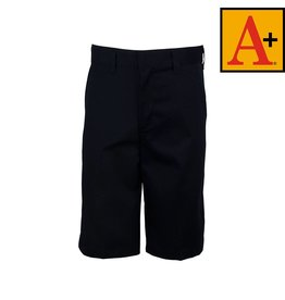 School Apparel A+ Navy Blue Plain Front Walk Shorts #7033M